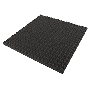 Akustikpur – 12 Unidades aprox. 50 cm x 50 cm x 3 cm – Espuma acústica, pisos) Espuma acústica, acústica aislamiento