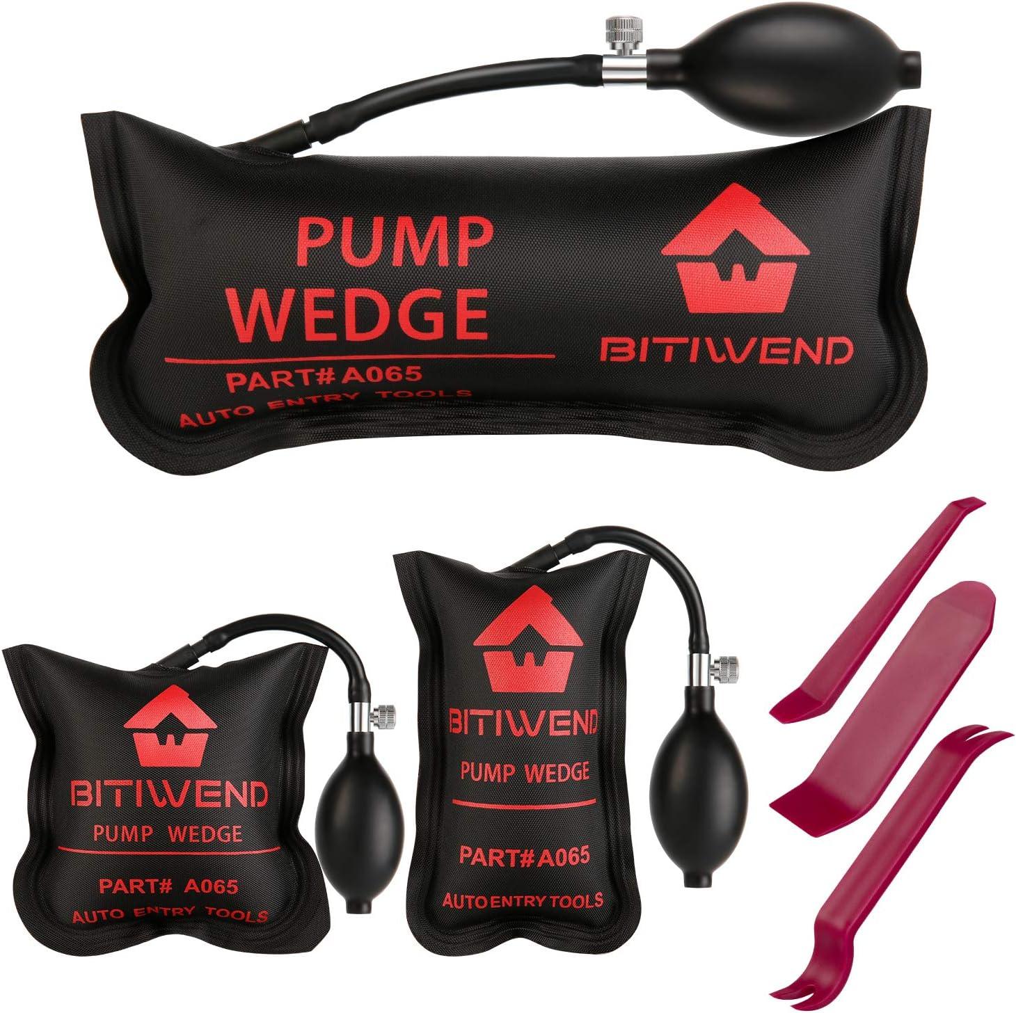 Car Air Pump Wedge Inflatable Auto Door Window Shim Entry Open Tool Kit Helpful