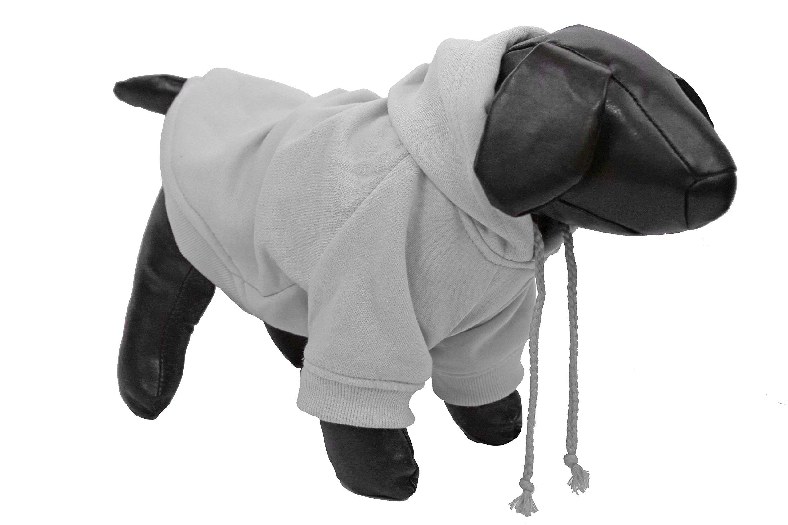 Pet Life American Classic' Designer Fashion Plush Cotton Pet Dog Hooded Sweater Hoodie, Small, Grey
