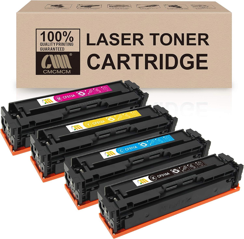 CMCMCM Compatible Toner Cartridges Replacement for HP 204A CF510A CF511A CF512A CF513A Color Laserjet Pro MFP M180n M180nw M181 M181fw Pro M154a M154nw Printer (KCMY-4 Pack)