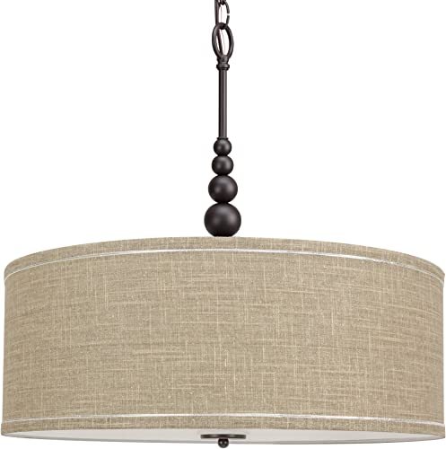 "Kira Home Adelade 22"" Modern 3-Light Drum Pendant Chandelier"