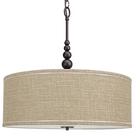 Kira home adelade 22 modern chandelier sand fabric drum shade kira home adelade 22quot modern chandelier sand fabric drum shade glass diffuser aloadofball Images