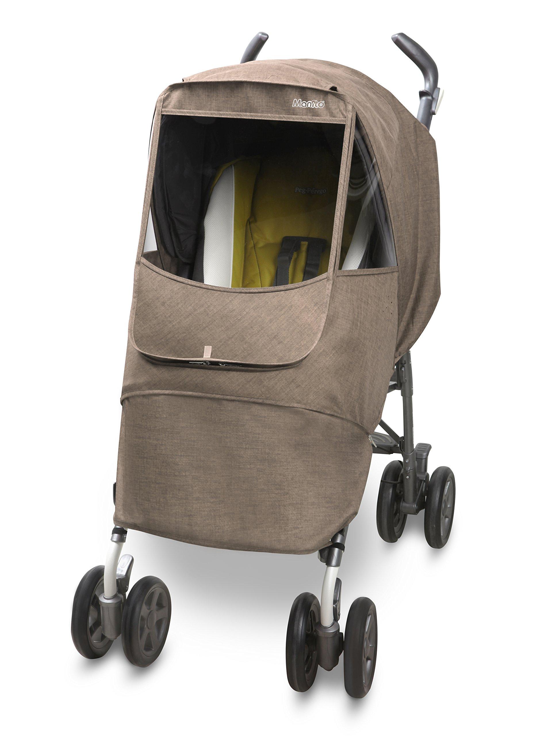 Manito Melange Alpha Stroller Weather Shield (Beige)