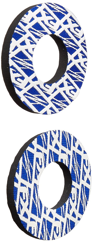 15-67920 Blue//White Moto Grip Donut - Pair Factory Effex