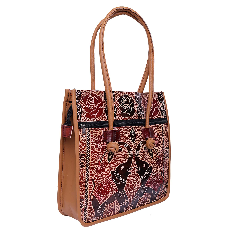 375b1291e2 Amazon.com: Indian Handmade Leather Ethnic Vintage Tribal Shoulder Bag Purse  (Black New): Shoes