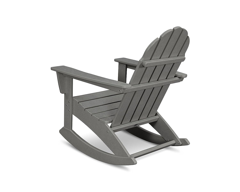 POLYWOOD Vineyard Adirondack Rocking Chair Slate Grey