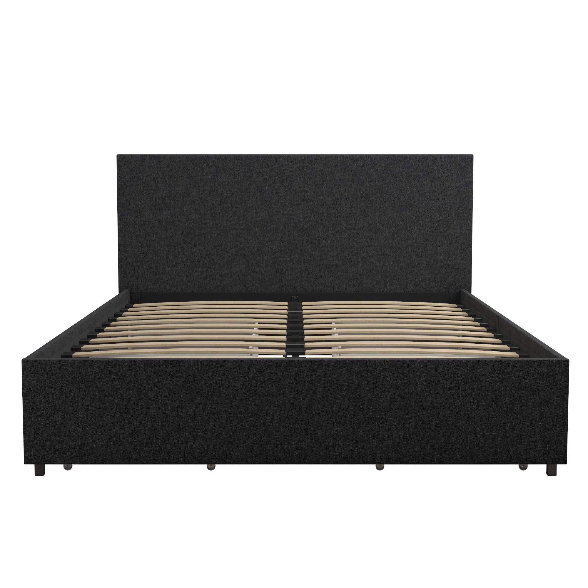 Novogratz Kelly Bed with Storage, Queen, Dark Gray Linen by Novogratz (Image #15)