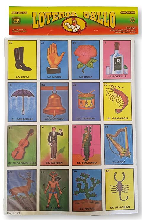 "Authentic Super Jumbo Mexican Loteria 24"" ..."
