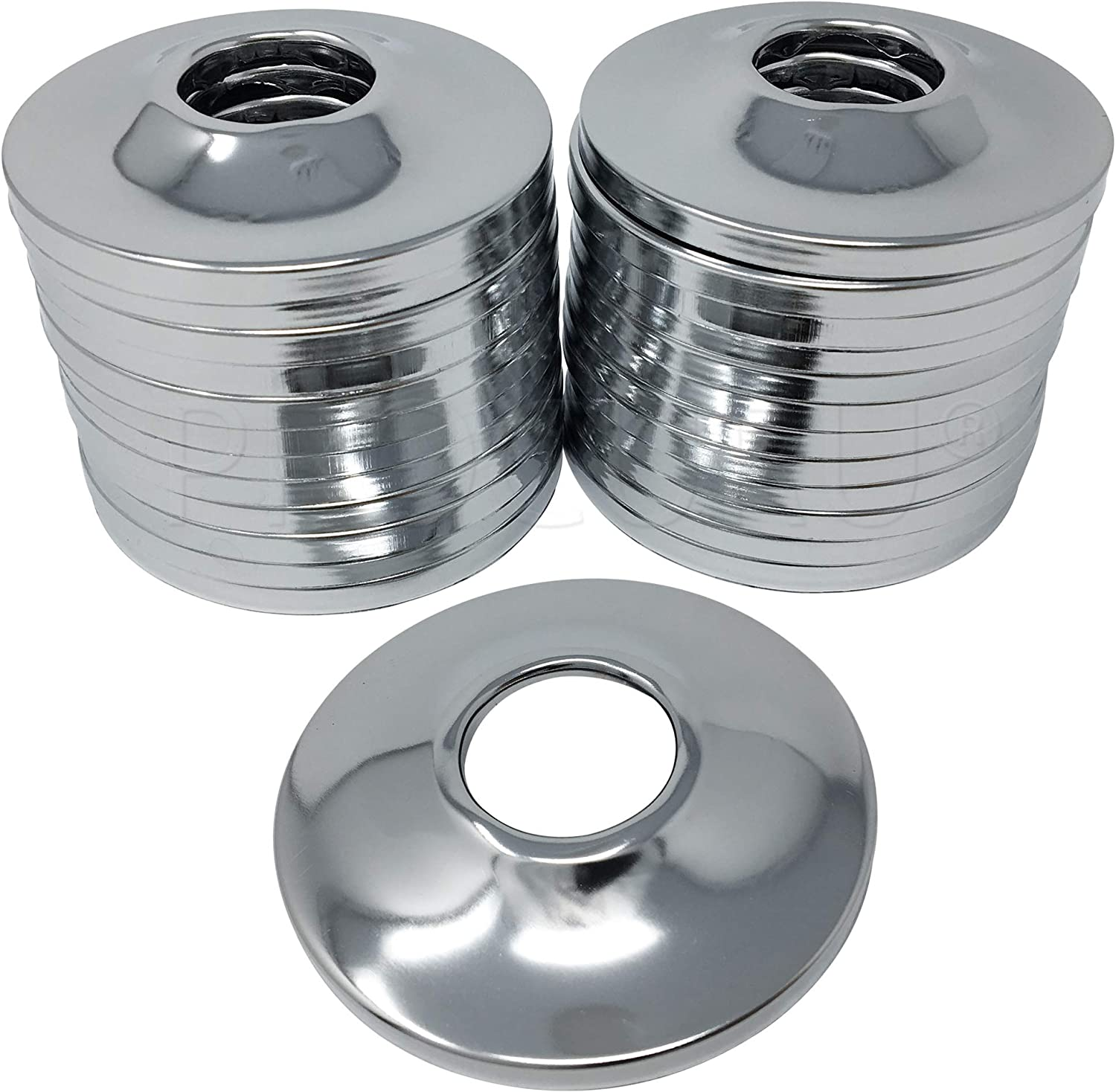 5 Split Chrome Escutcheon Trim Rings for 1-1//2 Outside Diameter Pipe /& Tube Hole