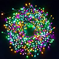 Luces Navidad Exterior, Ulinek 20M 200LED Guirnaldas Luces Navidad 4 Colores Cadena Luces con 8 Modos IP44 Impermeable…