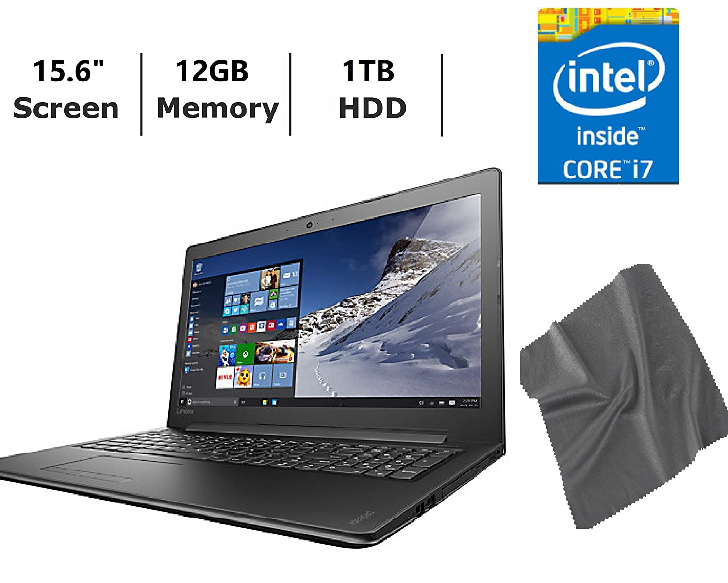 High Performance Laptops >> Lenovo Ideapad 15 6 High Performance Laptop Bundle Intel Core I7 2 50 Ghz 12gb Ddr3l 1tb Hdd Dvd Rw Drive Screen Cleaning Clothes Webcam