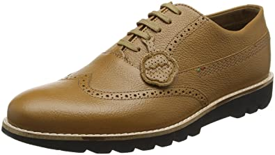 Kickers Mens Kymbo Brogue Tan Leather Lace Up Shoes Size 6.5