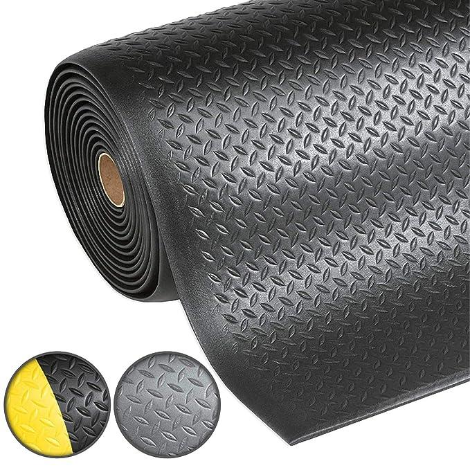 Arbeitsplatzmatte Anti-Erm/üdungsmatte Dyna-Protect Diamond Schwarz 90x600 cm