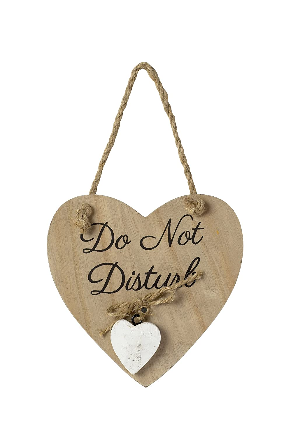Do Not Disturb - Wooden Heart Shape Shabby Chic Sign Used2bee