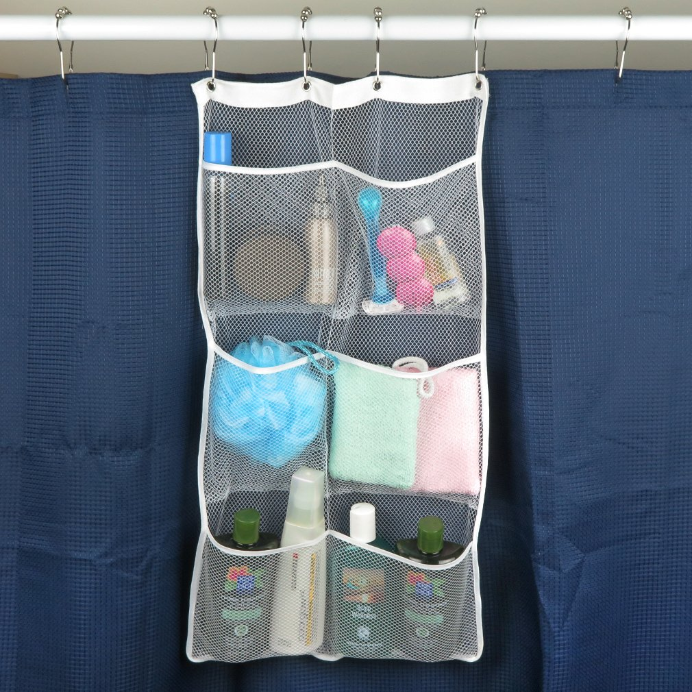 Hanging Shower Caddy Quick Dry Mesh Material Organizer With 6 Pockets 6.25L  SALE