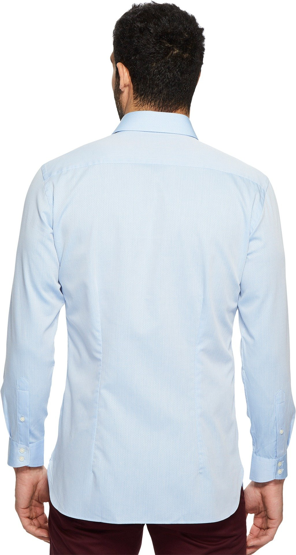 Ted Baker Men's oaker Textured Solid Dress Shirt Blue 17.5-34/35 by Ted Baker (Image #3)