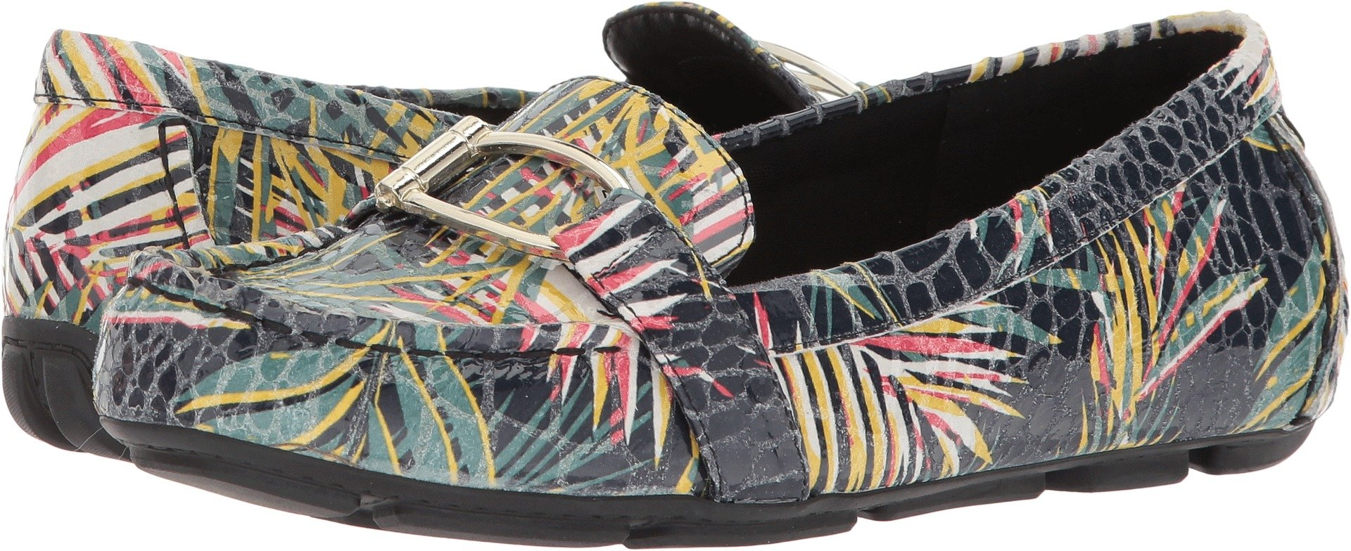 Anne Klein Women's Petra Driving Style Loafer, Black/Multi rp, 7.5 M US