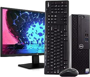 "Dell OptiPlex 3050 PC Desktop Computer, Intel i5-6500 3.2GHz, 8GB RAM, 500GB HDD, Windows 10 Pro, New 23.6"" FHD V7 LED Monitor, Wireless Keyboard & Mouse, New 16GB Flash Drive, DVD, WiFi (Renewed)"