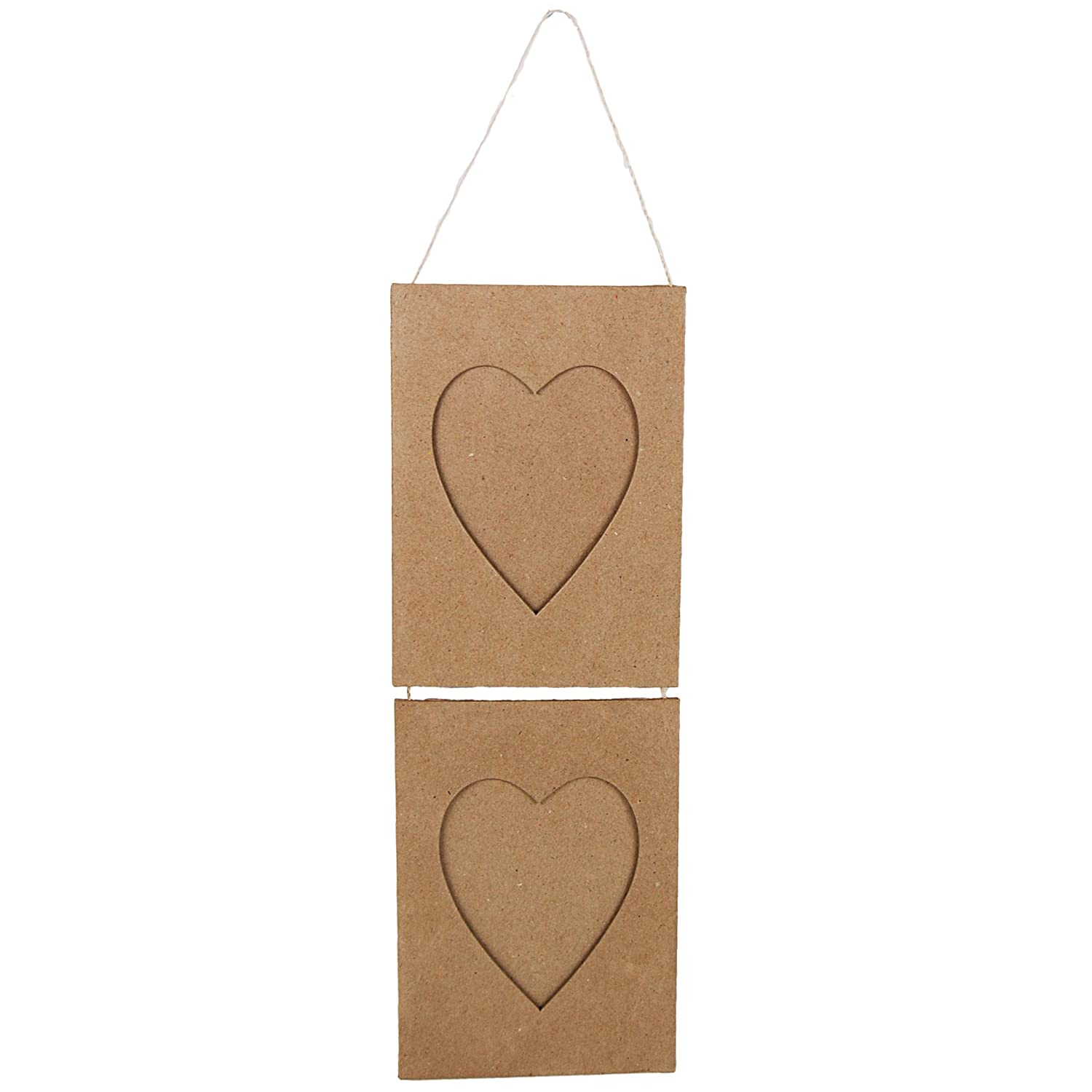 Country Love Crafts Hanging Heart Frames Papier Mache CLSNGP1146