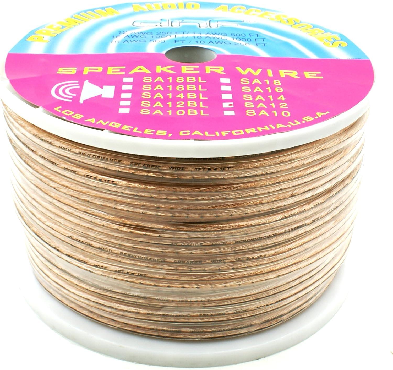 DNF 100/% Copper 12 Gauge 2 Line Speaker Wire 250 Feet SHIPS  TODAY!