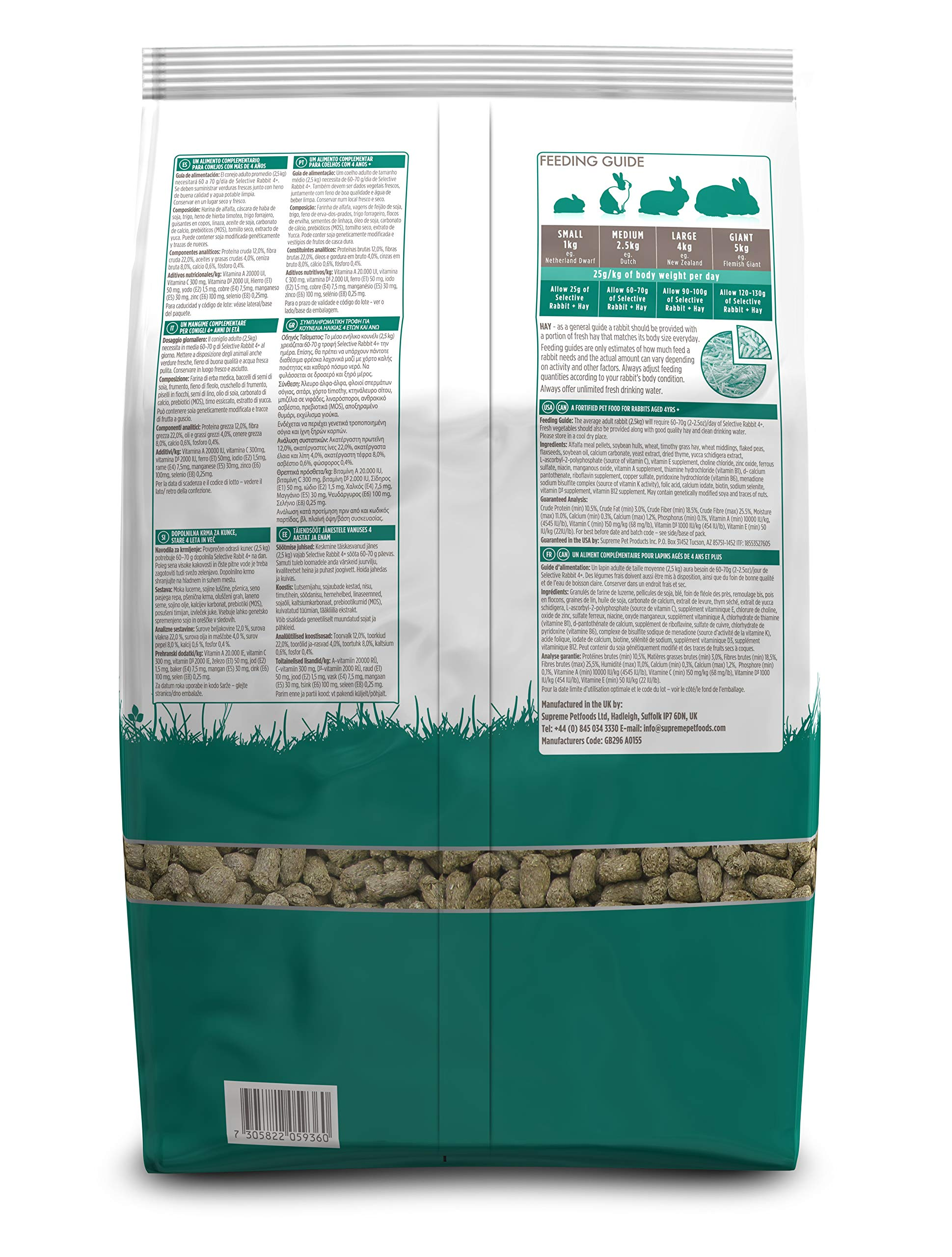 Supreme Petfoods Science Selective Food For 4 Plus Years Old Rabbit, 4.4 Lb