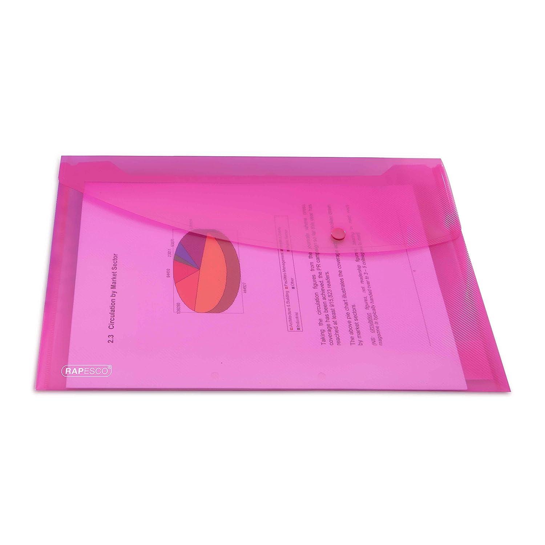 Rubino Confezione da 5 pezzi Rapesco 0684 Portadocumenti Trasparente