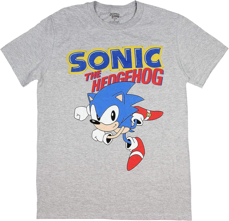 Amazon Com Sonic Hedgehog Shirt Mens Game Costume Poster Character T Shirt Clothing