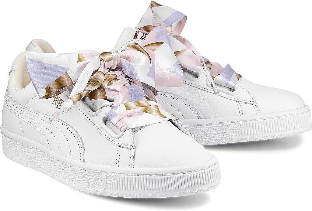 Puma Heart Geo Camo Femme Chaussures Blanc