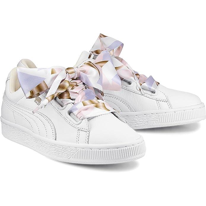 Femme Geo Heart Camo Blanc Chaussures Puma 8OmvnwN0