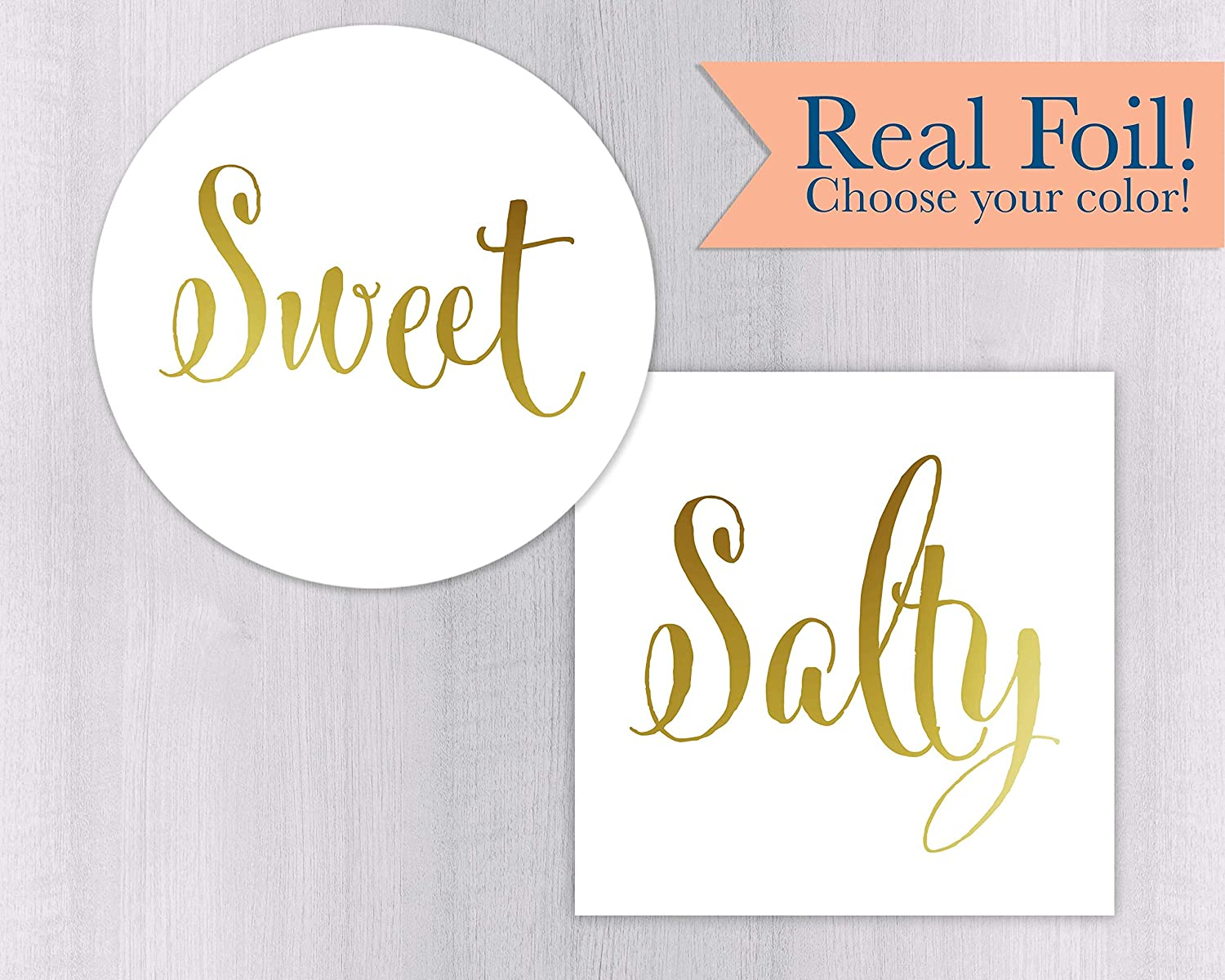 Amazon com sweet and salty gold foil stickers wedding welcome bag