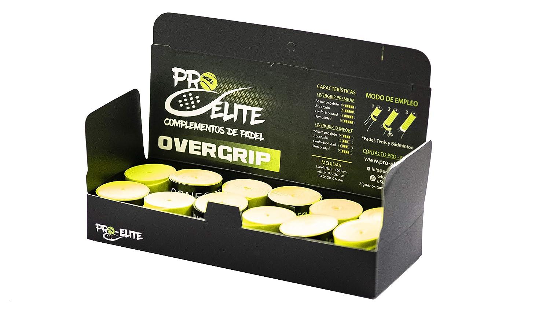 overgrips Pro Elite Confort Perforados Amarillos Flúor. Caja 10+2 unds.: Amazon.es: Deportes y aire libre