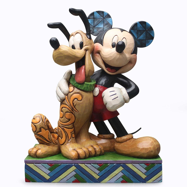 Disney Traditions Mickey & Pluto Collectible Figurine [並行輸入品] B017CXZXTK