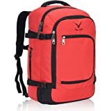 Hynes Eagle Travel Backpack 40L for Women Flight Approved Carry on Backpack Scarlet