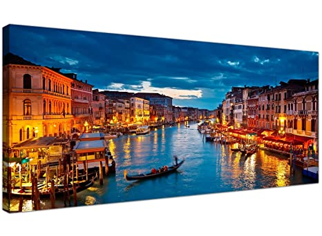 Wallfillers Cheap Canvas Prints of Venice Italy for your Living Room -  Inexpensive City Wall Art - 1068