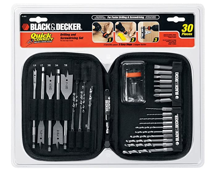 BLACK+DECKER Quick Connect Drilling and Screwdriving Set, 30-Piece