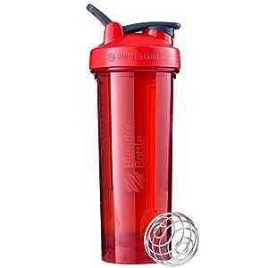 BlenderBottle Pro Series Shaker Bottle, 32-Ounce, Red