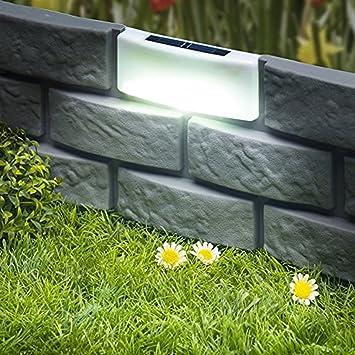 Garten Beetbegrenzung beetbegrenzung ziegelstein solar gartenzaun rasen beet