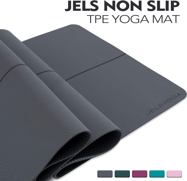 TENOL JELS Yoga Mat Non Slip Eco Friendly SGS Certified TPE Yoga Mat Extra Thick 1/4