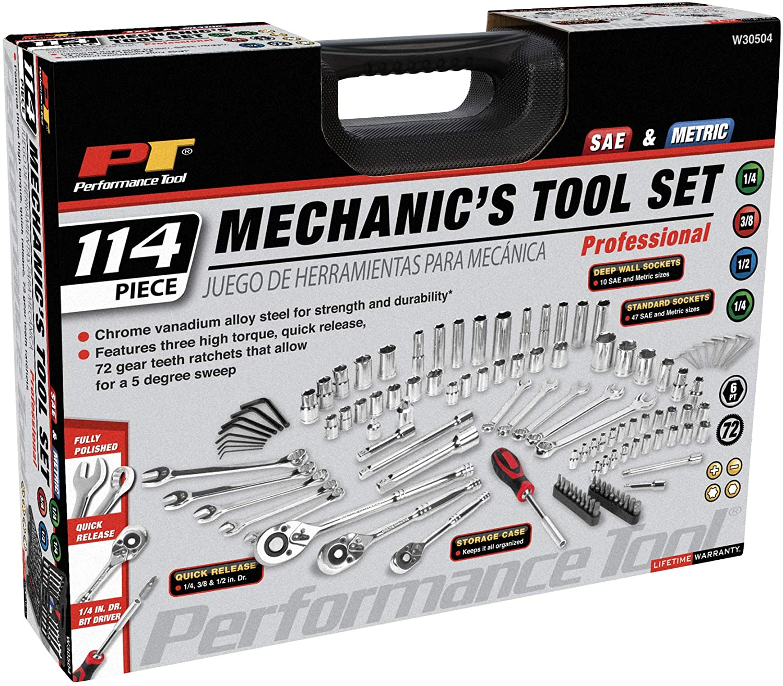 Performance Tool W30504 114pc Mechanic's Tool Set