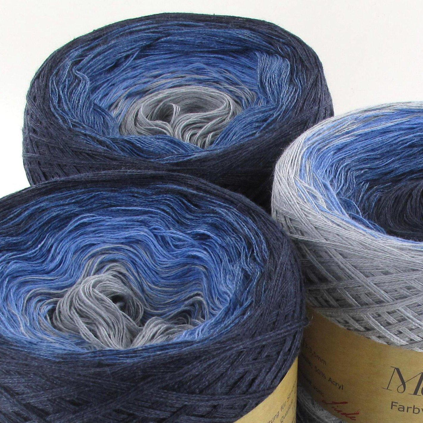 Variante:3fach LoLa Farbverlaufswolle Jeansfarben Denim no 150g 750m 03