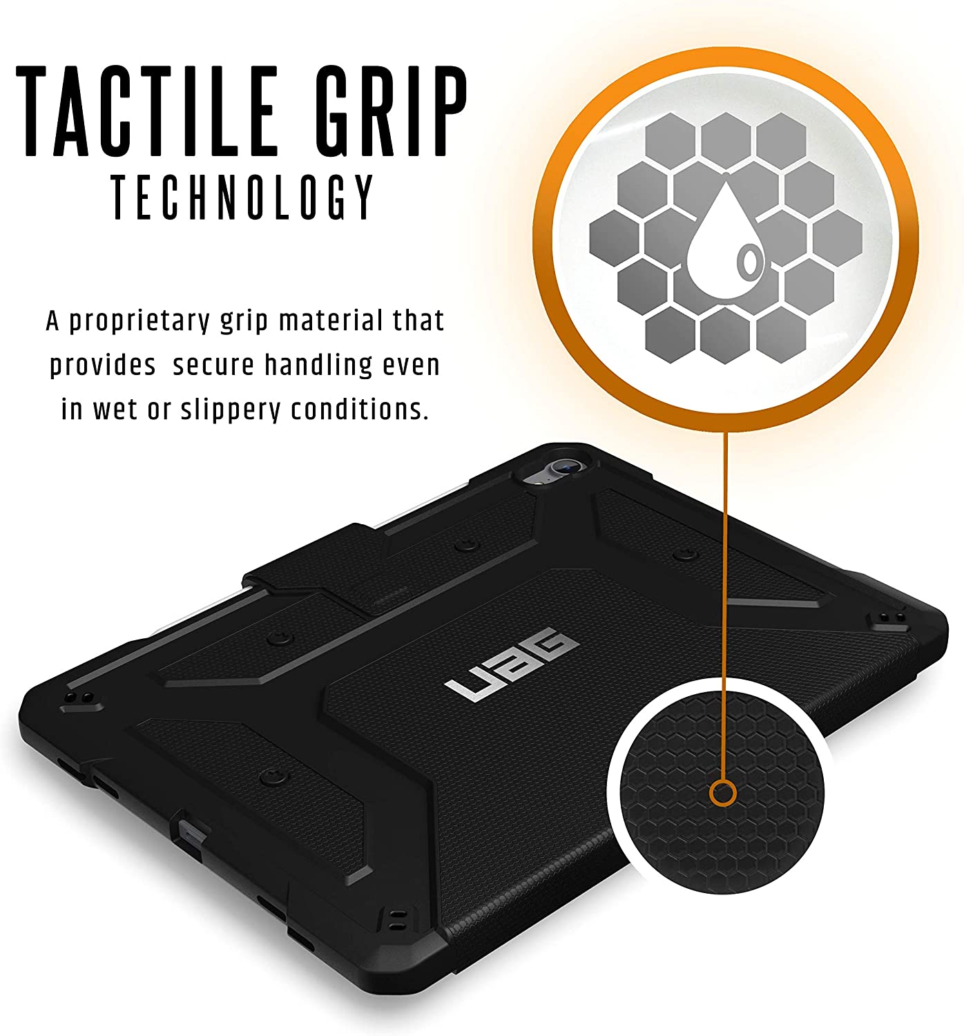 2nd Gen, 2020 URBAN ARMOR GEAR UAG iPad Pro 11-inch Folio Slim Heavy-Duty Tough Multi-Viewing Angles Stand Military Drop Tested Rugged Protective Cover Black Case Metropolis