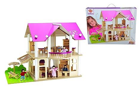 Eichhorn villa delle bambole con mobili e personaggi