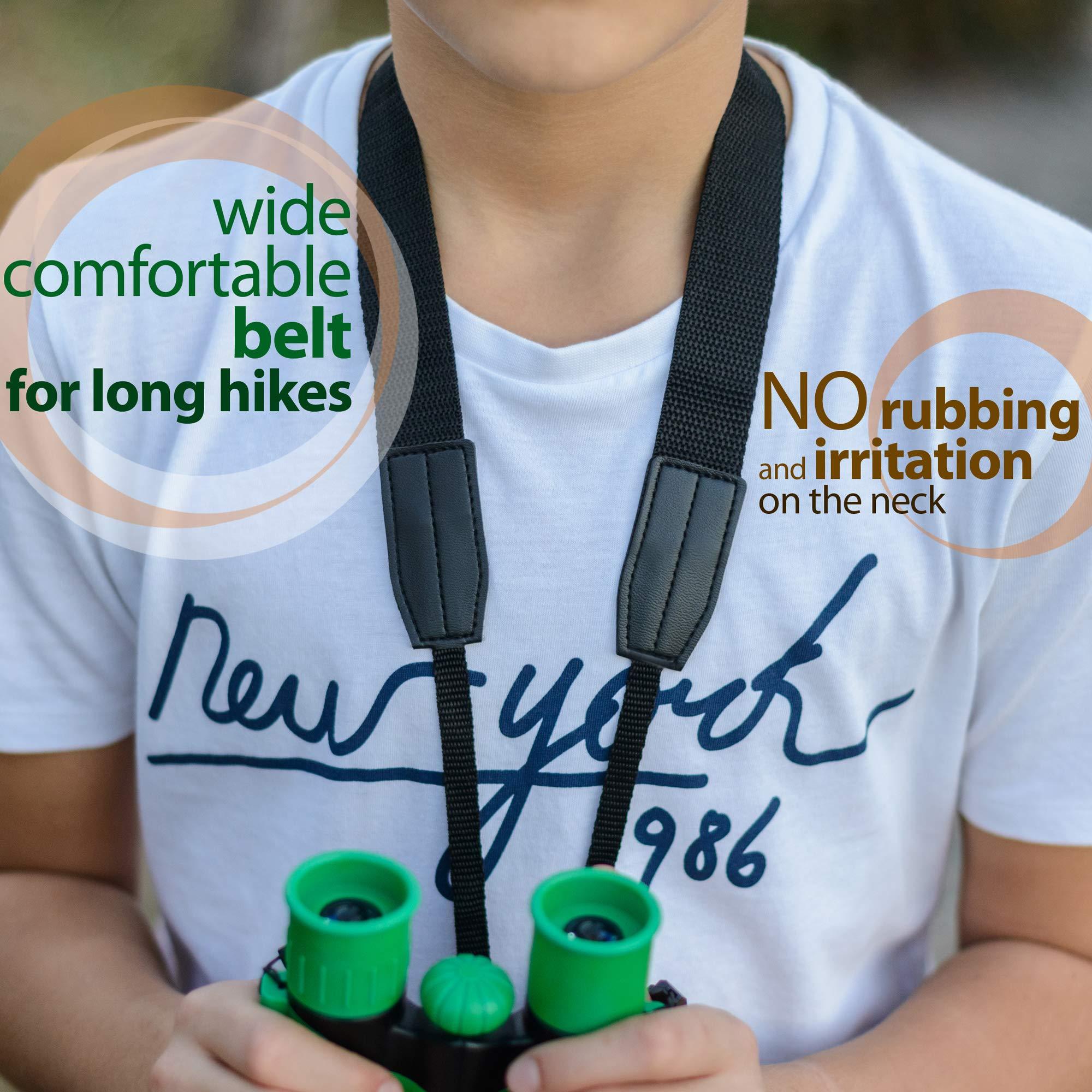 RO Kids Games Binoculars Compact Toy Set for Bird Watching, Spy Hiking Kit for Children, Outdoor Exploration Kit for Backyard Safari, Outside Play, Boys & Girls Binocular, Waterproof & Shockproof by RO kids games (Image #2)