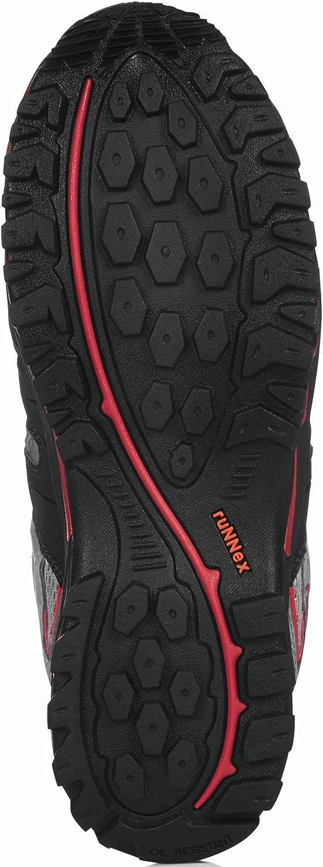 Runnex/® S1-Sicherheitshalbschuh Lightstar 36 Gr Schwarz//Grau//Rot