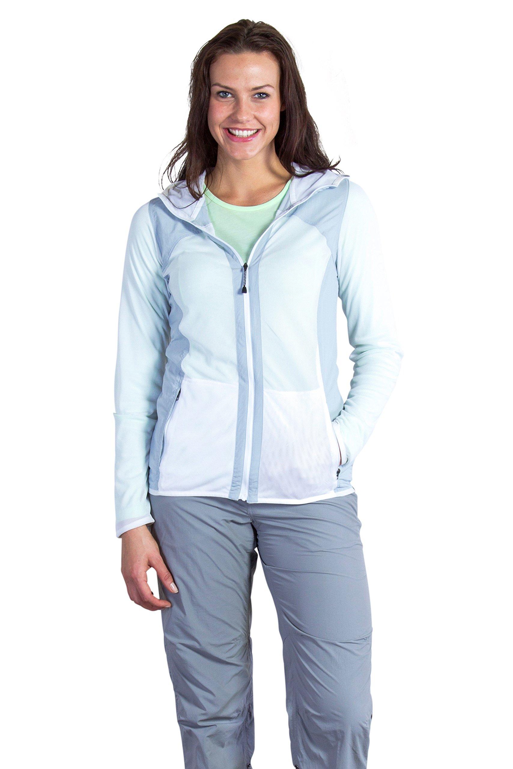 ExOfficio Women's BugsAway Damselfly Jacket, White/Oyster, Small
