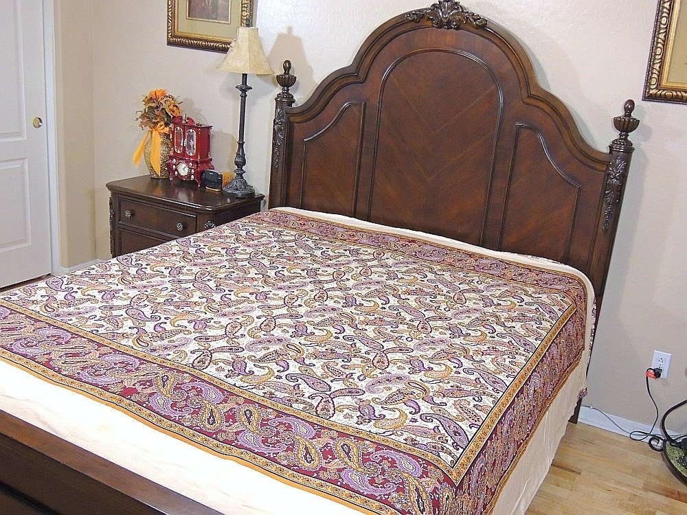 Ethnic Decor Cotton Duvet India Inspired Bedding Floral Paisley Reversible Style ~ Queen by NovaHaat (Image #4)