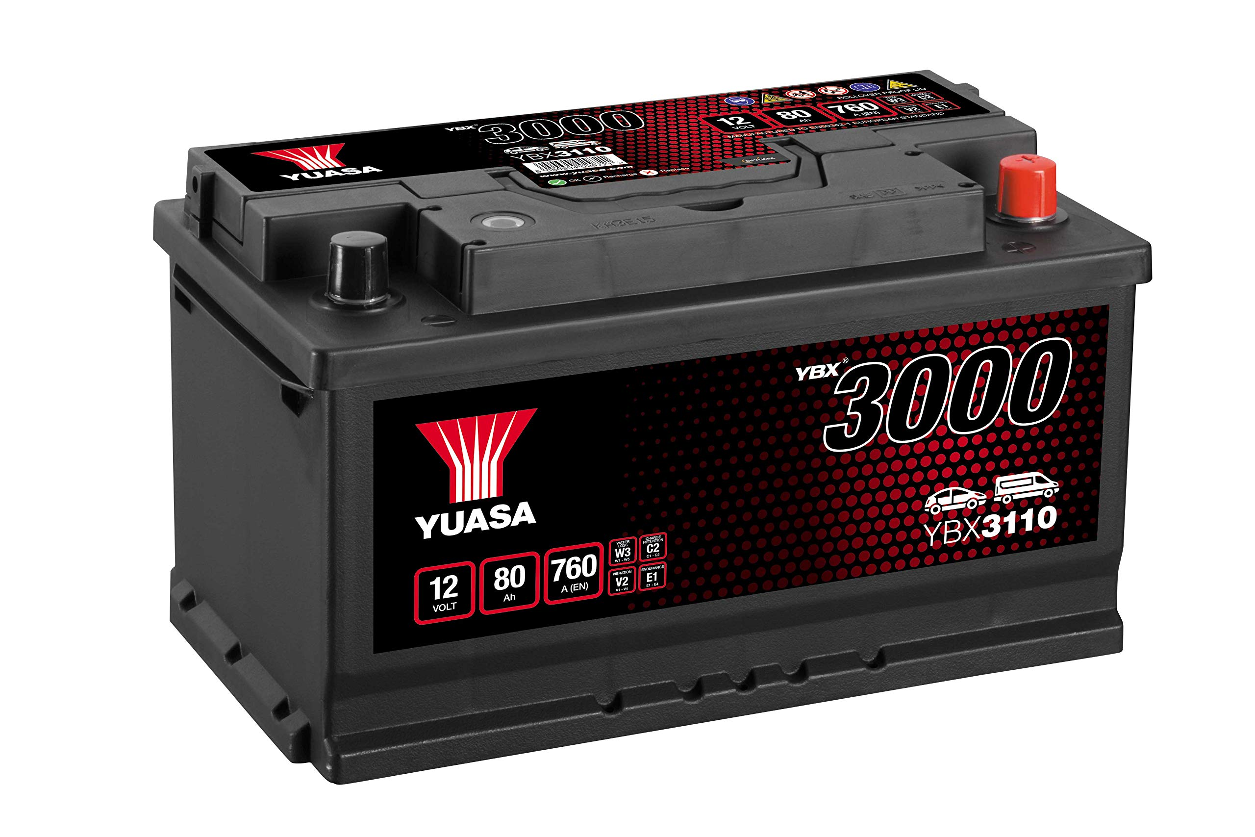 Yuasa YBX3110 12V 80Ah 720A SMF Battery