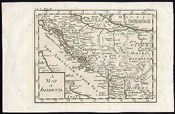 Karte Istrien Kroatien.Amazon De Antike Karte Italien Ancient Illyricum Istrien
