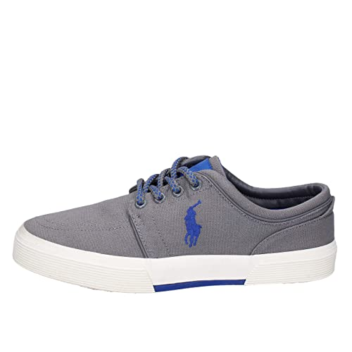 Polo Ralph Lauren - Zapatillas de Tela Hombre, Color Gris, Talla 40 EU: Amazon.es: Zapatos y complementos