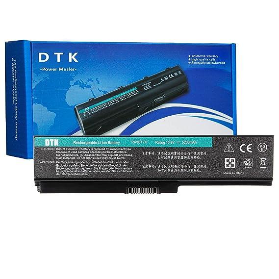 DTK Batería de Repuesto para Portátil Toshiba Pa3817u-1brs Pa3819u-1brs Satellite C600 L640 L650 L650d L655 L700 L745 L755d M640 M645 P745 P755 P775 ...